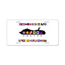 Cruise Signal Flags-b Aluminum License Plate