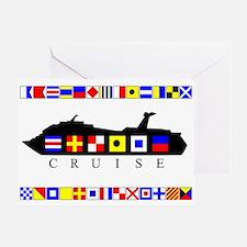 Cruise Signal Flags-b Greeting Card