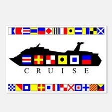 Cruise Signal Flags-b Postcards (Package of 8)