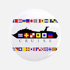 "Cruise Signal Flags-b 3.5"" Button (100 pack)"