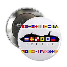 "Cruise Signal Flags-b 2.25"" Button (10 pack)"