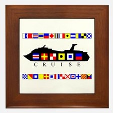 Cruise Signal Flags-b Framed Tile