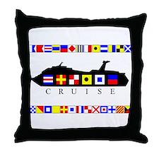 Cruise Signal Flags-b Throw Pillow