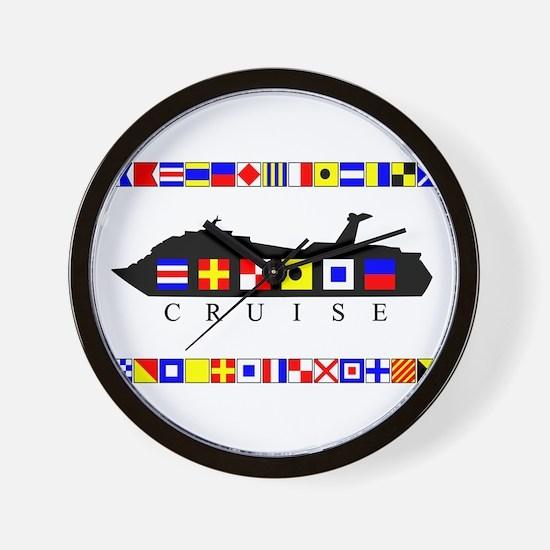 Cruise Signal Flags-b Wall Clock