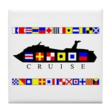 Cruise Signal Flags-b Tile Coaster