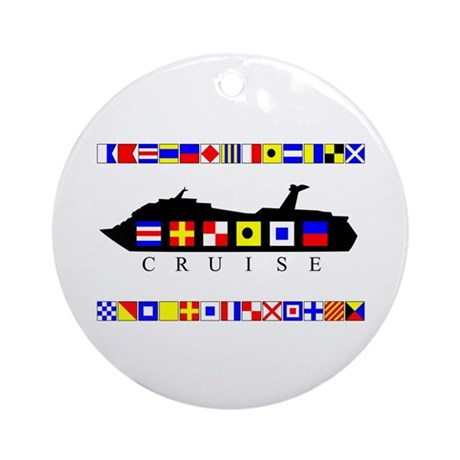 Cruise Signal Flags-b Ornament (Round)