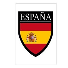 Spain (Espana) Flag Patch Postcards (Package of 8)
