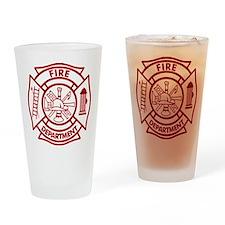 Firefighter Maltese Cross Drinking Glass