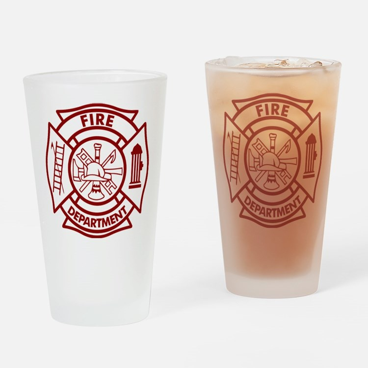 Firefighter Maltese Cross Drinking Glass