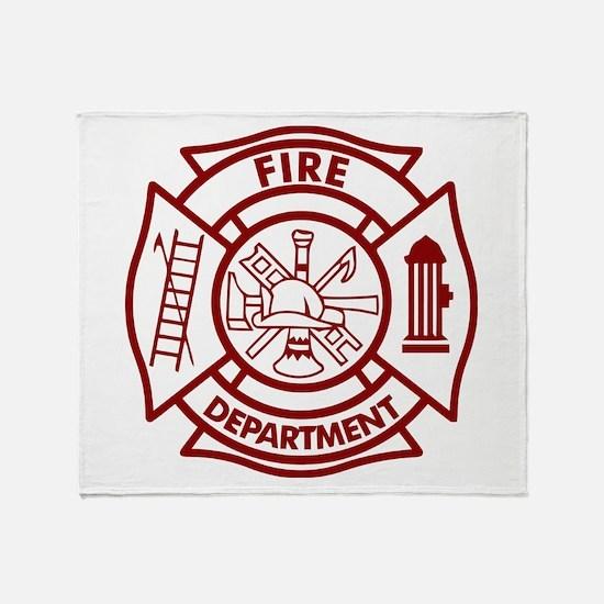 Firefighter Maltese Cross Throw Blanket