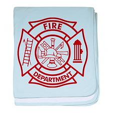 Firefighter Maltese Cross baby blanket