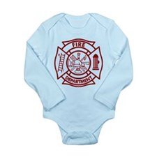 Firefighter Maltese Cross Long Sleeve Infant Bodys
