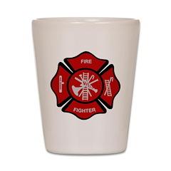 Firefighter Emblem Shot Glass