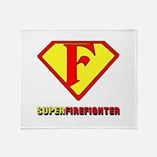 Super Firefighter Throw Blanket