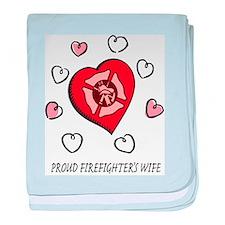 Proud Firefighter's Wife baby blanket