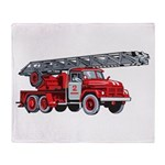 Fire Engine Throw Blanket