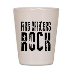 Fire Officers Rock Shot Glass