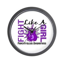 Fight Like A Girl Fibromyalgia Wall Clock