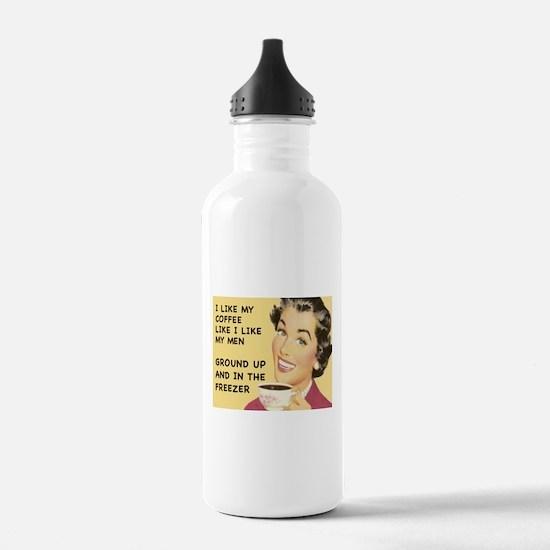 Coffee Like My Men Water Bottle