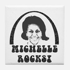 Michelle Obama Rocks Tile Coaster