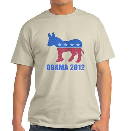 Obama 2012 Natural Colored Mens T-Shirt