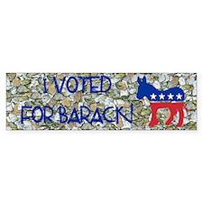 I Voted for Barack Obama Bumper Bumper Sticker
