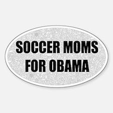 Soccer Moms for Obama Oval Bumper Decal