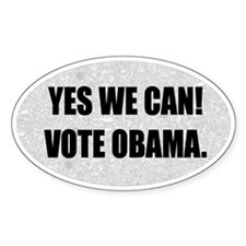 Yes We Can Obama Biden Oval Bumper Decal