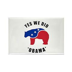 Obama Yes We Did Polar Bear Rectangle Magnet