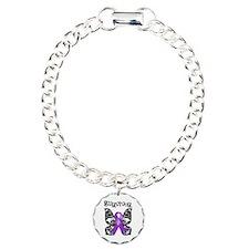 Butterfly Lupus Survivor Charm Bracelet, One Charm
