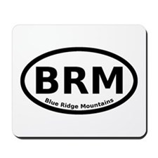 Blue Ridge Mountains Oval Mousepad