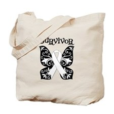 Butterfly Lung Cancer Tote Bag