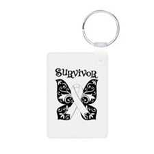 Butterfly Lung Cancer Keychains
