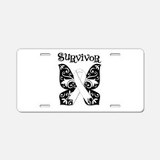 Butterfly Lung Cancer Aluminum License Plate