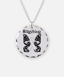 Butterfly Lung Cancer Necklace