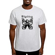 Butterfly Melanoma Survivor T-Shirt