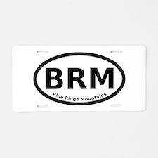 Blue Ridge Mountains Oval Aluminum License Plate