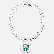 Butterfly Ovarian Cancer Bracelet