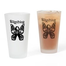 Butterfly Melanoma Survivor Pint Glass