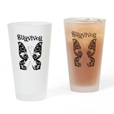 Butterfly Lung Cancer Pint Glass