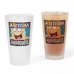 Funny Autism Awareness Pint Glass