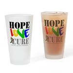 Hope Love Cure Autism Pint Glass