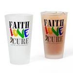 Faith Love Cure Autism Pint Glass
