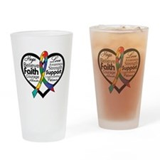 Heart Ribbon - Autism Pint Glass