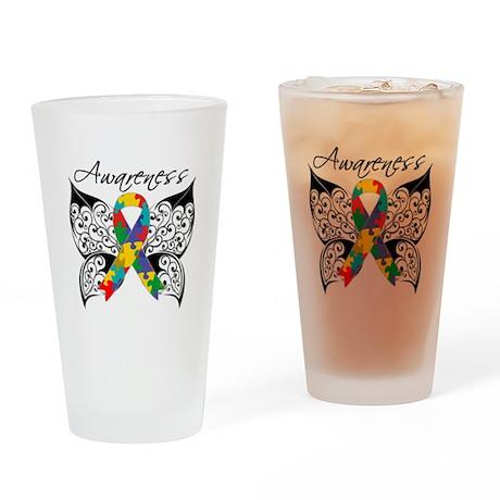 Awareness Butterfly Autism Pint Glass