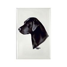 Black Labrador Retriever Rectangle Magnet