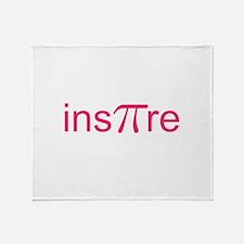 "Original Pink Ins""Pi""re Throw Blanket"