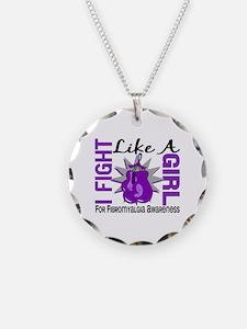 Fight Like A Girl Fibromyalgia Necklace