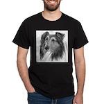 Shetland Sheepdog (Sheltie) Black T-Shirt