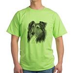 Shetland Sheepdog (Sheltie) Green T-Shirt